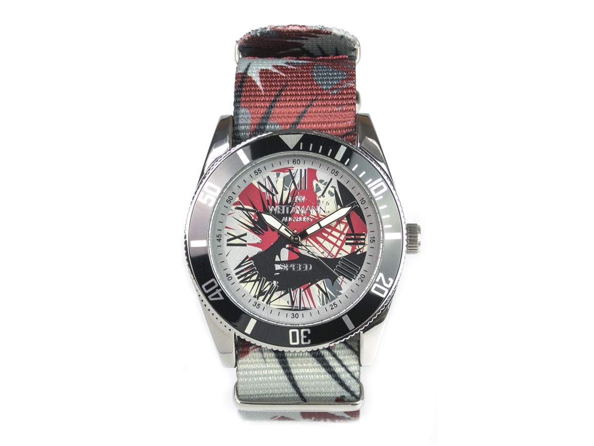 Speed Camouflage, Hippie-Unisex-Uhr, Look anthrazit
